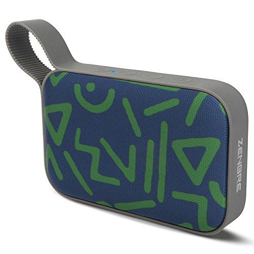 zenbre S410W Portable Bluetooth 4.1altavoz, plástico funda Forma, 20horas de reproducción con passivem Radiador
