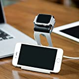 Magideal Silver Aluminum Charging Cradle Charger Dock for Apple Watch Phone or ipad