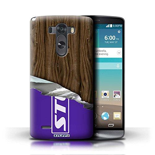Kobalt® Imprimé Etui / Coque pour LG G3/D850/D855 / Doigts/Sticks conception / Série Chocolat Flake/Flocon Enveloppé