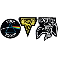 Set_ROCK013 - Van Halen Patch, Pink Floyd Patch and Led Zeppelin Patch, 3 Pcs Heavy Metal Patches, Applique Embroidered Patches - Rock Band Iron on Patches by Asian 108 Markets