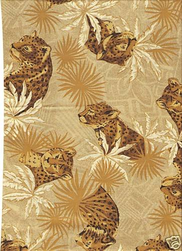 Fat Quarter Jungle, Leoparden-Muster, Baumwolle, 50 x 55 cm -