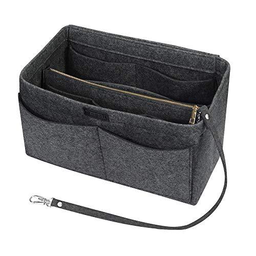 check-out 486db 77131 Ropch - Inserto in feltro per borsa, organizer da borsetta con cerniera  staccabile e portachiavi Grigio grigio xl