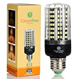 GreenSun LED E27 Fassung 12W Mais Birne Beleuchtung SMD2835 128LEDs Leuchtmittel Corn Light Dimmable(100%-50%-25%) Kühlesweiß Energiesparlampe für Wandlampen, Tischlampen, Deckenlampen 220V-240V