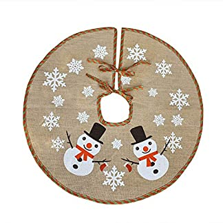 Awtlife – Tela navideña para base de árbol con diseño navideño (tamaño 75 cm)