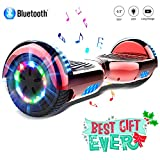 COLORWAY Overboard Gyropode Hover Scooter Board Bluetooth 6.5 Pouces, Scooter Electrique Moteur 700W, Self-Balance Board avec Roues LED Flash, E-Scooter Auto-équilibrage
