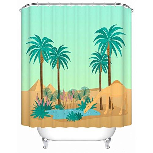 multi-size Textil Design Stoff Badezimmer Duschvorhang Set mit 12Haken für Kinder und Kinder, mehrfarbig, 200*180cm (Duschvorhänge Stoff Kinder)