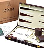Jaques of London Set de Backgammon - 37cm - Set de Backgammon de Luxe - Backgammon Voyage