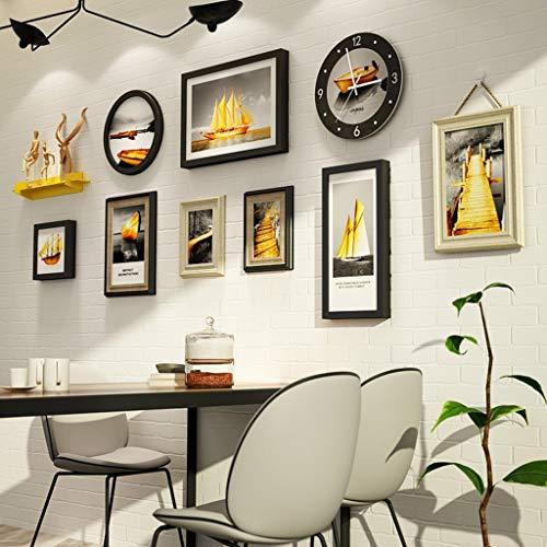 Conjunto marcos fotos madera centro comercial residencial