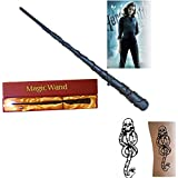 New LED Harry Potter Herminone Granger Magical Light Up Magic Wand Free Tattoo