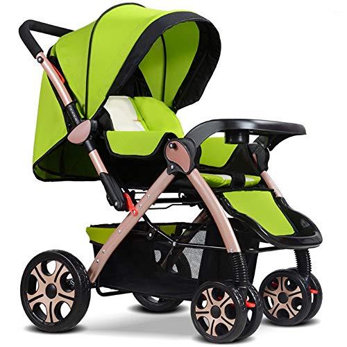 YYBABY Chariot à bébé Facile Pliant Facile à Porter Pliant Facile de Berceau extérieur de bébé de Poussette extérieure portative Confortable et Doux ( Color : Green )