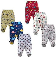 NammaBaby Unisex Assorted Print Pajama Bottom (Pack of 6)