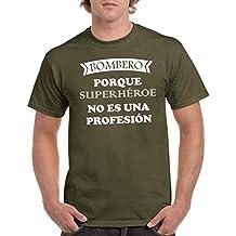 Parent: Camisetas divertidas bombero porque superheroe no es una profesion - para hombre camiseta