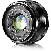 Neewer NW-E-35-1.7 35mm f/1.7 Obiettivo Fisso di Prima Qualità con Messa a Fuoco Manuale per Fotocamere Digitali SONY E-Mount, come SONY NEX3, 3N, 5, 5T, 5R, 6, 7, A5000, A5100, A6000, A6100 e A6300