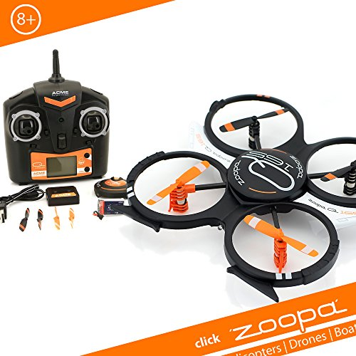 zoopa ZQ01650 QuadroCopter, schwarz/orange