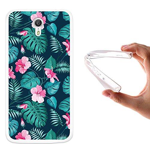 WoowCase Lenovo ZUK Z1 Hülle, Handyhülle Silikon für [ Lenovo ZUK Z1 ] Tropische Blumen 2 Handytasche Handy Cover Case Schutzhülle Flexible TPU - Transparent