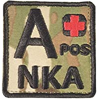 Multicam A POS A+ NKA Blood Type Embroidered Hook-and-Loop Patch