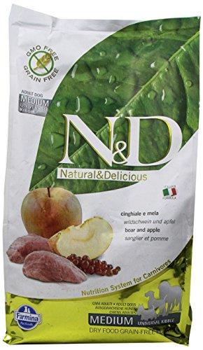 Farmina (Russo Mangimi) - Natural & Delicious Grain Free Adult Medium con Cinghiale e Mela 1 Sacco 2,50 kg