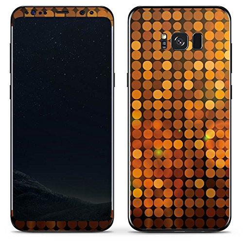 Disco Ideen Thema (Samsung Galaxy S8 Plus Folie Skin Sticker aus Vinyl-Folie Aufkleber Disco Pailetten)