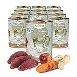 AniForte ® PureNature Ranch Horse - Pferd mit Süßkartoffeln & Äpfeln 12x400g Nass-Futter, Getreidefrei, Naturprodukt für Hunde