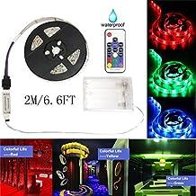 VENMO Batteriebetriebener Streifen 5050 2M Imprägniern RGB 60 LED 5V Mit  Rf Prüfer LED Strip Streifen LED Lichtband Led Stripes LED Lichtleiste  Wasserdicht ...