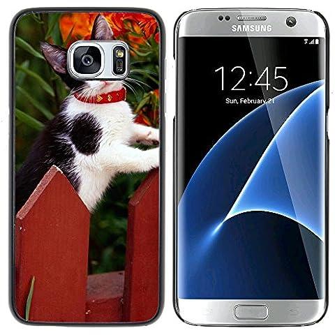 Loire Dura Variopinta Stampato Protettiva Copertura Shell Di Caso Della Pelle Samsung Galaxy S7 edge (Curved screen,NOT FOR S7)/ S7 edge Duos / G930 ( Staccionata