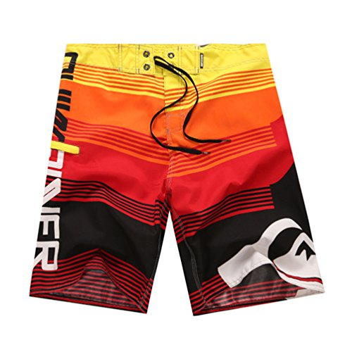 YOUJIA Uomo Costumi Da Bagno Leisure Travel Short Pantaloncini Da Surfe Rosso M