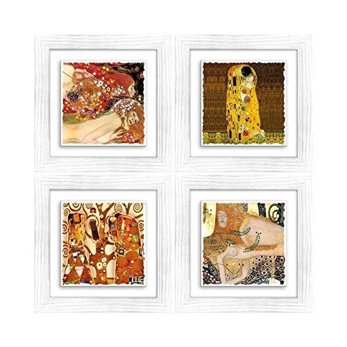 Arredamento D'antiquariato Quadro Sacro Con Cornice Oro Papa Woityla 14 Misure 46x61cm