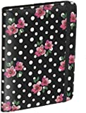 Accessorize Fashion Folio Case Cover with Built-In Stand and Closing Strap for Amazon Kindle 4 - Polka Dot Floral