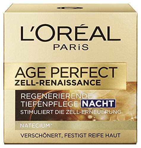 L'Oreal Paris Age Perfect Zell Renaissance Nachtpflege, mit Pro-Calcium, strafft und festigt die Haut mit Tiefenwirkung, 50 ml -