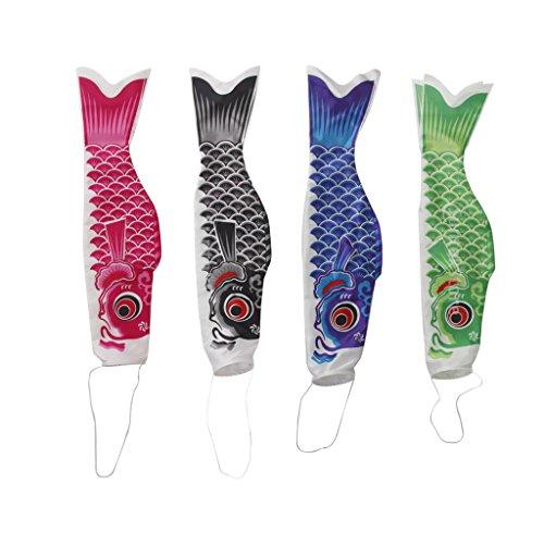 Sharplace 4X Bandera Japonesa Koinobori Casas Jardines Festivales Fiesta Celebración Coloridos Serpentinas de Carpa Cometa Decoración