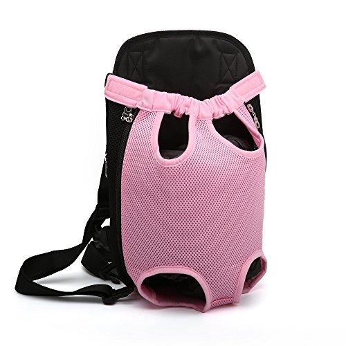 DESESHENME Katzen-Hundegeschirr-Taschen-Bügel-Kette für Handtaschen-Haustier-Träger-tragbares Buntes Festes Rosa, 32 × 20cm