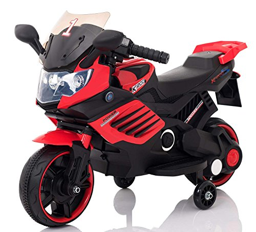GetBest Spark Kids Battery Operated Ride on Bike- LQ-158, Red