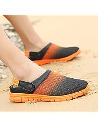 Xing Lin Sandales Pour Hommes Sandales Pantoufles Chaussures Sandales Nid Marée De L'Été Men'S Beach Respirante Chaussures Hommes Grande Taille Gris 42 eko6C65q