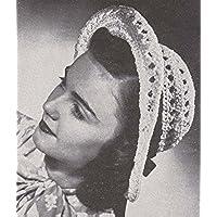 White Rolibrim Crocheted Roll Brim Hat Cloche Crochet Pattern (English