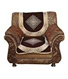 Kuber Industries Brown 5 Seater Cotton Sofa Cover Set -10 Pieces (Exclusive Design)