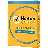 Norton Security 2016 Deluxe (3 appareils / 1 an) - boite contenant la licence permettant d'activer l'abonnement d'un an - pas de CD inclus dans la boite
