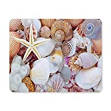 Gaming Mouse Pad, Mouse Pad Sea Shells mit Korallen und Starfish angehäuft Non Slip Mouse Pad
