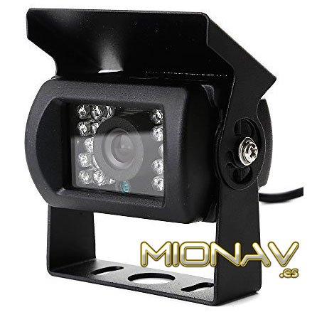 Professionale Universale fotocamera posteriore (XII N) black. infra-rojos per visione notturna. Perfetto per auto, autobus, trattori, camion e macchine