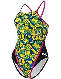 MP Michael Phelps Womens Carimbo RB Swimsuit Size 38