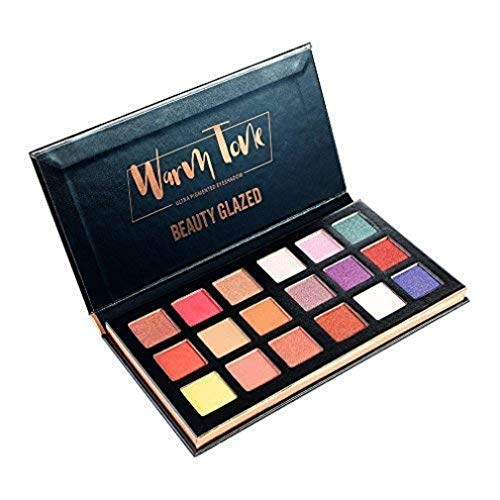 Beauty Glazed Palette de fard à paupières Palette de maquillage de poudre de fard à paupières imperméable à l'eau de 18 couleurs,Palette de fard à paupières longue durée
