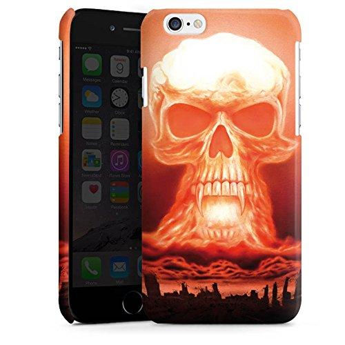 Apple iPhone 5 Housse Étui Silicone Coque Protection Explosion Tête de mort Ville Cas Premium brillant