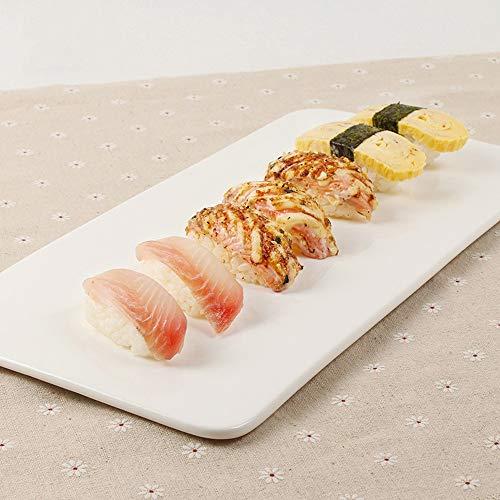 LI plaque- Pur Blanc Hôtel Vaisselle En Céramique Simple Plat Rectangulaire De Sushi Plat Plat Restaurant Buffet Snack Cake Set Plat tableware (taille : 35×17cm)