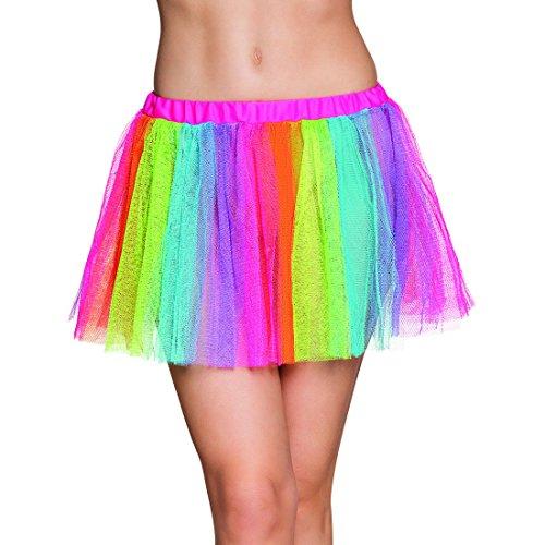 erdbeer-clown - Damen Karneval Motto-Party knapper Regenbogen Tütü, S/M, (Für Tanz Mädchen Moderne Kostüme)