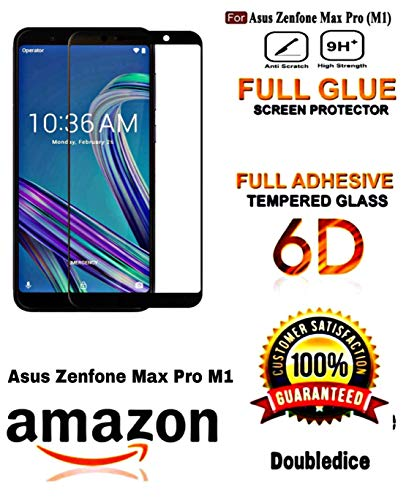 Doubledicestore 6D Full Glue Edge Screen Protection Tempered Glass for ASUS Zenfone Max Pro M1