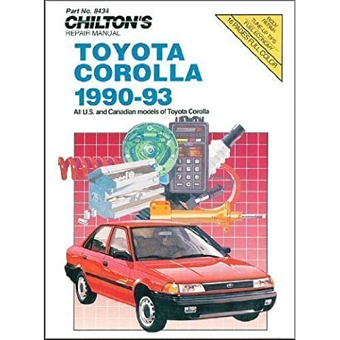 Toyota Corolla, 1990-93 (Chilton's Repair & Tune-Up Guides) 1st edition by Chilton (1994) Paperback - 93 Tune