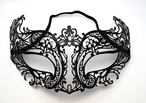 Venezianischen Maskerade-Maske für Frauen aus Laser-Cut Metall mit Kristallen - Stil - Katze Maske Venezianische