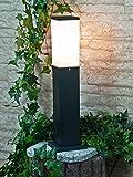 Moderne Stehleuchte für den Außenbereich in schwarz quadratisch IP44 Lampe für Außen Hof und Garten