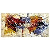 Pintada a mano Abstracto Horizontal,Modern Clásico Un Panel Lienzos Pintura al óleo...