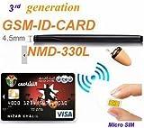 Eoqo Carte GSM avec Bluetooth 2en 1, micro oreillette-espion invisible avec cartes de crédit GSM pour communications sécrètes