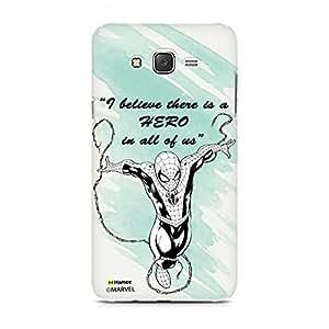 Hamee Original Marvel Ultimate Spider Man Licensed Designer Cover Slim Fit Clear Plastic Hard Back Case for Samsung Galaxy S8 (Hero / Quote)